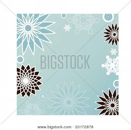 vetor de quadro de floco de neve
