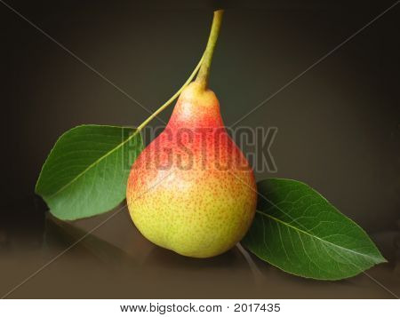 Pear With Leafs