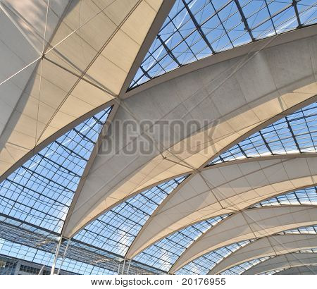 vaulted ceiling of the high-tech at Munich Airport