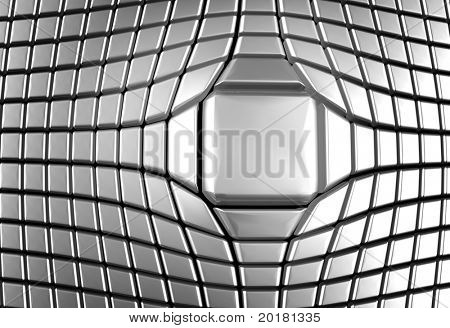 Silver abstract aluminium square luxury background 3d illustration