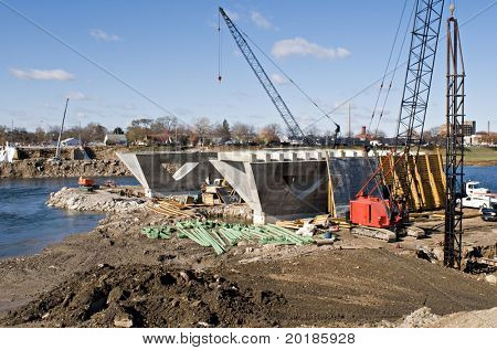 Sitio de construcción del puente
