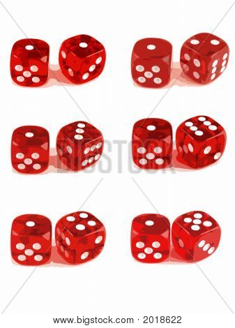 2 Dice - Showing All Numbers (1 Of 3)