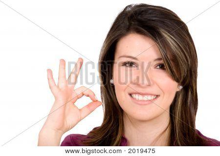 Girl Doing Okay Sign