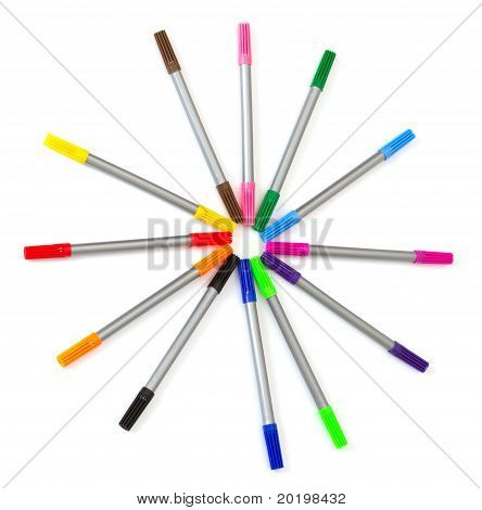 Multi-colored Felt-tip Pens