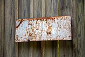 Inscription  stop Shooting. Old Rusty Metal Signs In The Chernobyl Zone. Radioactive Area. Warning poster