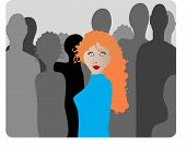 foto of red hair  - stand out  not like everybody else - JPG