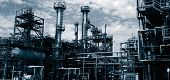 stock photo of duplex  - oil refinery - JPG