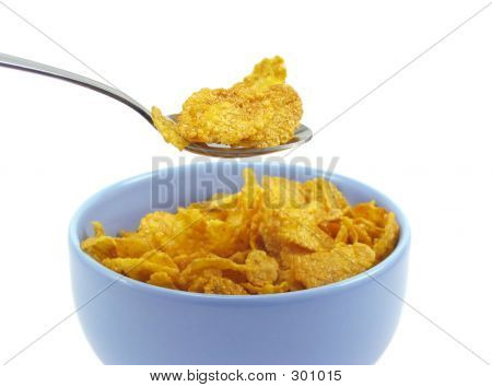 Spoonful Of Cereal Flakes