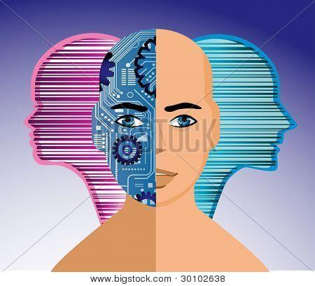 Trans-human robot person