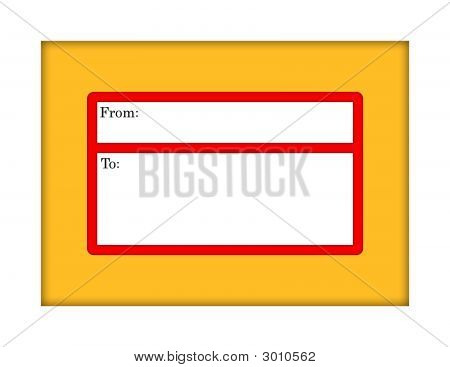 Manilla Envelope With Mailing Label