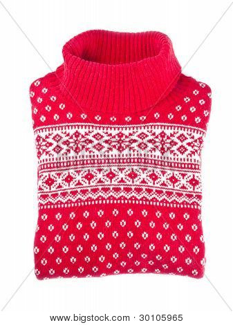 Red Woman's Wool Sweater