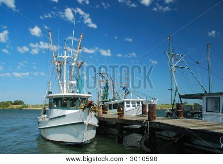 Shrimp Boats At The Dock