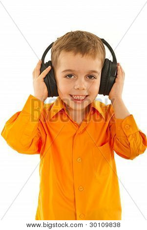Preschool Boy Listening Music