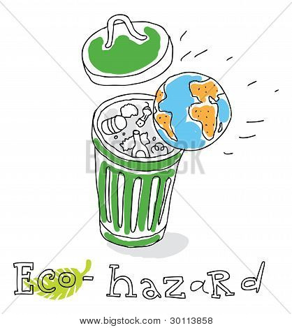 Eco hazard, vector drawing