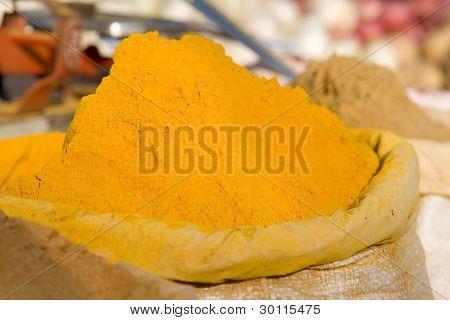 Turmeric Powder Spice Pile