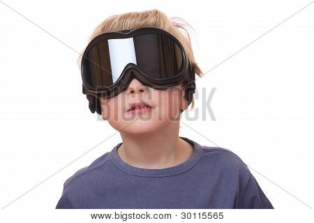 Boy With Ski Goggles