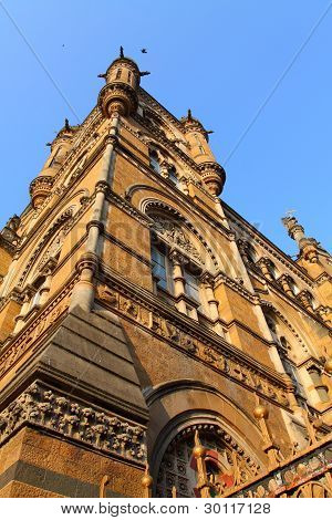 Victoria Terminus Train Station In Mumbai (india)
