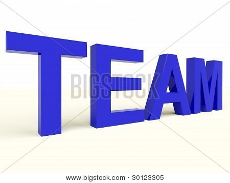 Team Text As Symbol For Teamwork And Partenership