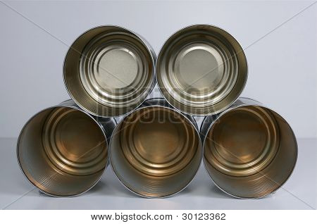 Group Of Tin Cans.