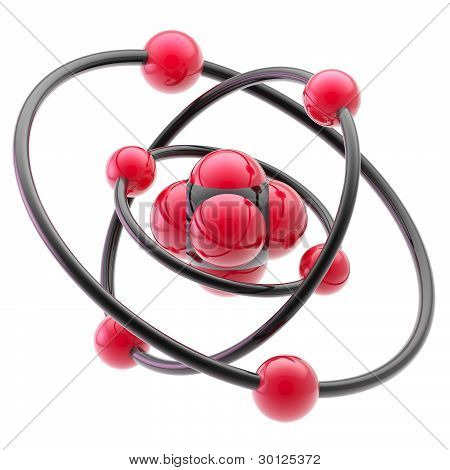 Nano technology emblem as atomic structure
