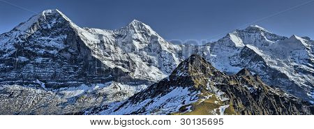 Eiger, Monch And Jungfrau