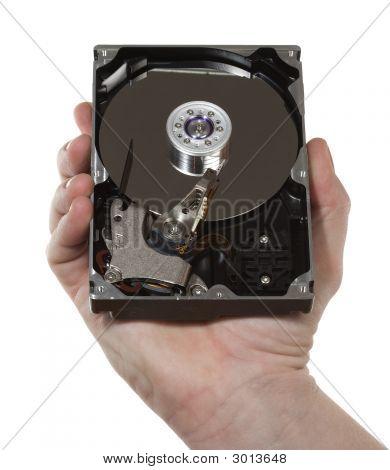 Hand,Hard Disk
