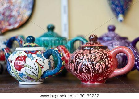 Authentic Iznik tile work cups