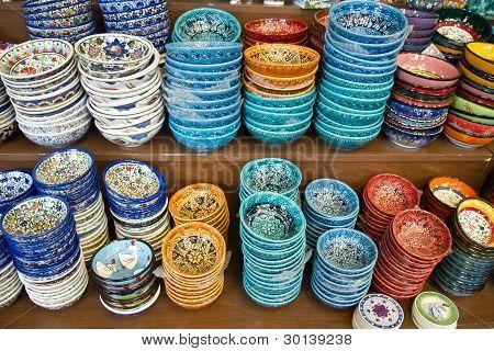 Authentic Iznik tile work bowls