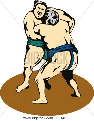 Sumo Wrestler Lifting