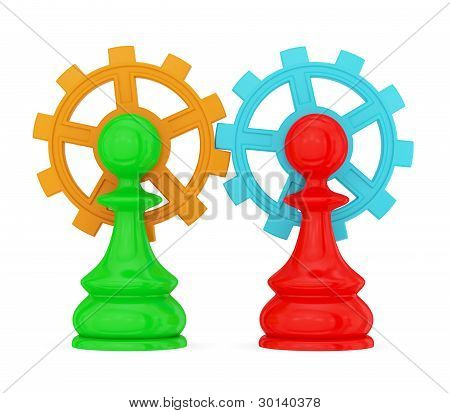 pawns merged with  gears