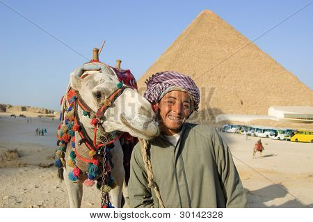 Arabic bedouin with camel