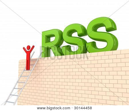 Word RSS on a big wall