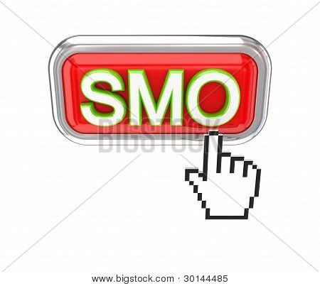 Cursor pushing red SMO button.
