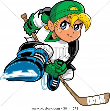 Anime Manga Boy Hockey Player