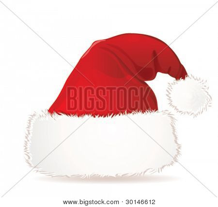 Santa Claus cap.Vector