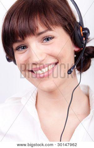 Portrait Of A Nice Customer Support Employee / Secretary