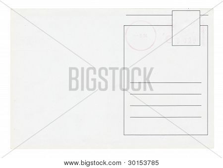 Postcard Isolated