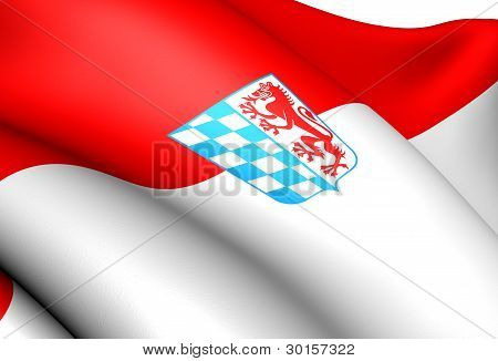 Flag Of Lower Bavaria, Germany.