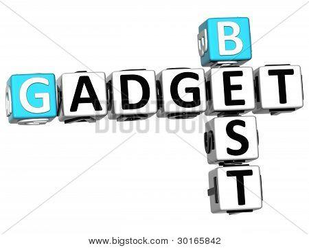 3D Best Gadget Text Crossword