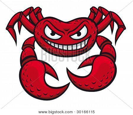 Angry Crab Mascot