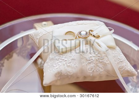 Wedding Rings On The Pillow