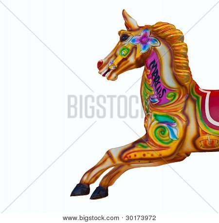 Carousel Horse Isolated On White