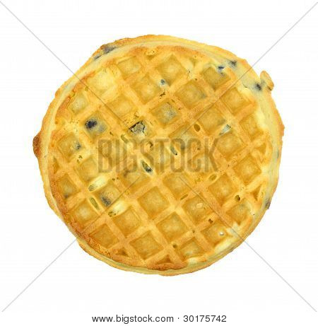 Single Blueberry Flavored Waffle