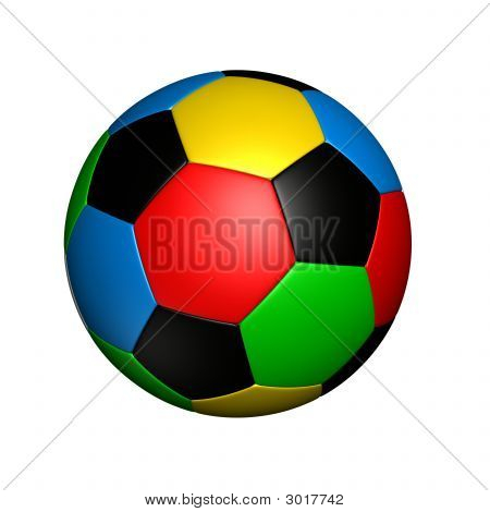Colored Soccer Ball