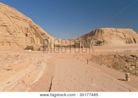 General View At The Abu Simbel Temple And Nefertari Temple (nubia, Egypt)