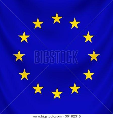 Flag European Union draped