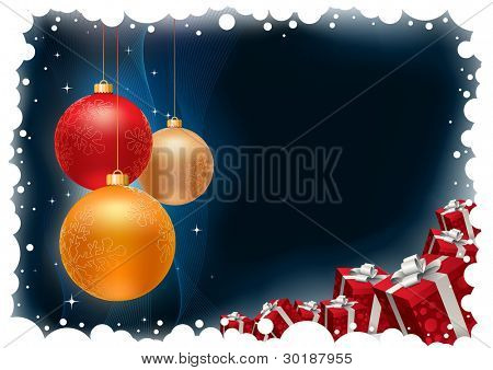 Christmas background All elements are layered separately in vector file