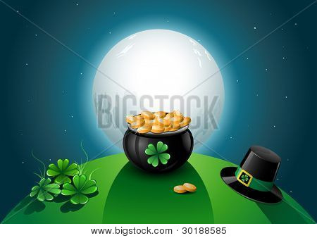 St. Patrick's Day vector illustration.