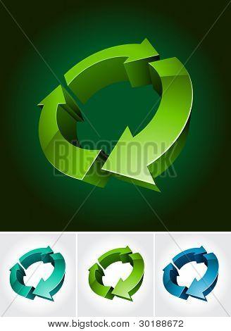 ambiental símbolo 3d