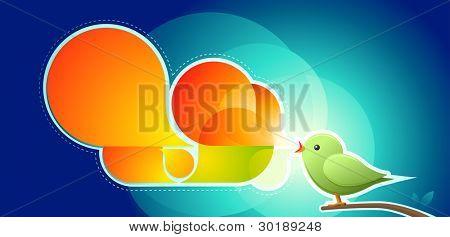 Abstract vector singing bird.